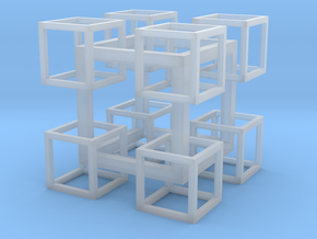 8 Cubes In 1 Cube in Smooth Fine Detail Plastic