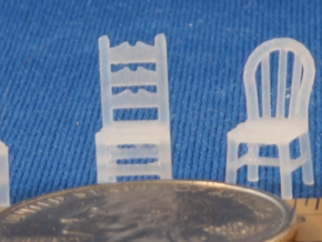 Assorted Chairs HO Scale in Frosted Ultra Detail