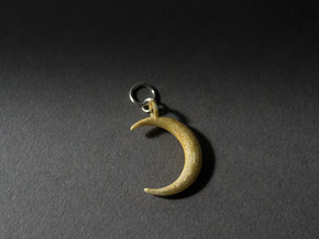 Moon Pendant in White Natural Versatile Plastic