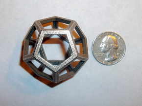 Dodecahedron in Stainless Steel
