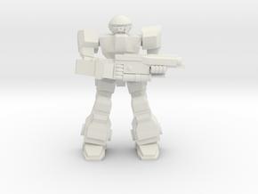 Howler Pose 3 in White Natural Versatile Plastic