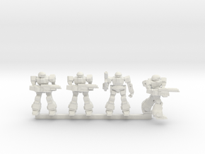 Howlers Squad in White Natural Versatile Plastic