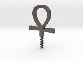 WINE OPENER , LIFE KEY. in Polished Bronzed Silver Steel