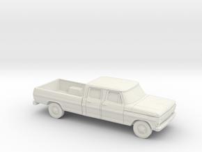 1/87 1967-69 Ford F-Series Crew Cab in White Natural Versatile Plastic