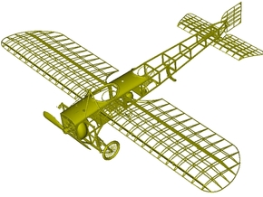 1/15 scale Bleriot XI-2 WWI model kit #3 of 4 in Smooth Fine Detail Plastic