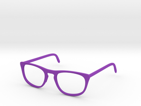 Classic Glasses Frames in Purple Processed Versatile Plastic