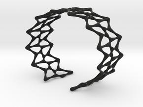 Kershner Bracelet in Black Natural Versatile Plastic: Small