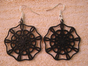 Large Nine-Way Earrings in Black Natural Versatile Plastic