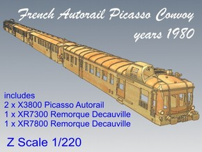 1-220 Convoy Autorail Picasso in Smooth Fine Detail Plastic
