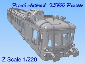 1-220 Autorail X3800 Picasso in Smooth Fine Detail Plastic