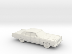 1/87 1974 Lincoln Continental Sedan in White Natural Versatile Plastic