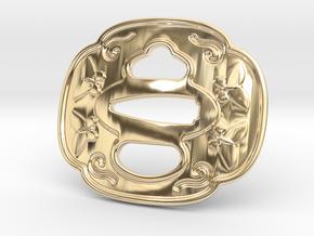 Tsuba Belt Buckle - 鍔  バックル in 14K Yellow Gold