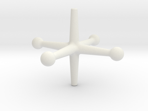 Spinjacktoy in White Natural Versatile Plastic