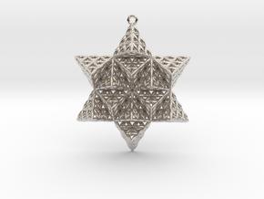 Flower of Life TetraStar Large in Platinum