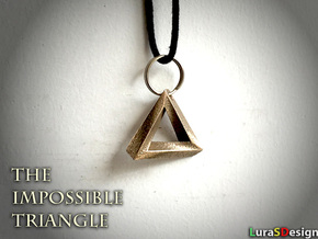 Impossible Triangle Pendant in Polished Bronzed Silver Steel