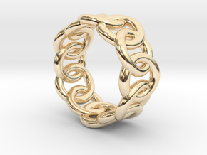 Chain Ring 25 – Italian Size 25 in 14K Yellow Gold