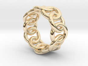 Chain Ring 28 – Italian Size 28 in 14K Yellow Gold