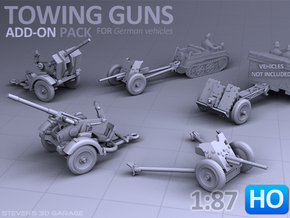 Towing Guns - (H0) in Frosted Ultra Detail