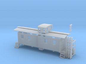 HO Little Woody L&N Caboose in Frosted Ultra Detail