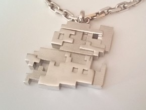 Mario 8-bits in Polished Silver