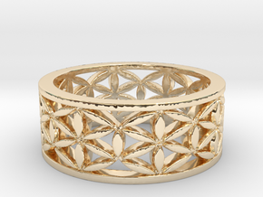 Flower of life  Size 10.25 in 14k Gold Plated Brass