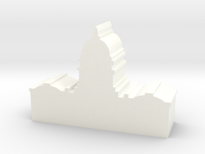 Game Piece, US Capitol in White Processed Versatile Plastic