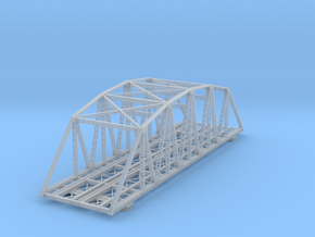120ft Double Track Truss Bridge Z Scale in Smooth Fine Detail Plastic