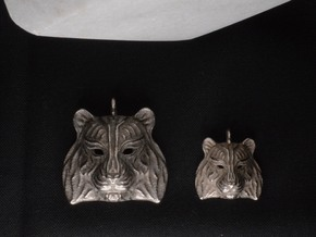 Tiger Small Pendant in Polished Bronzed Silver Steel