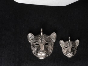 Leopard Pendan in Polished Bronzed Silver Steel