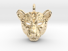 Leopard Pendan in 14K Yellow Gold