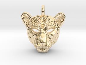 Leopard Small Pendan in 14k Gold Plated Brass