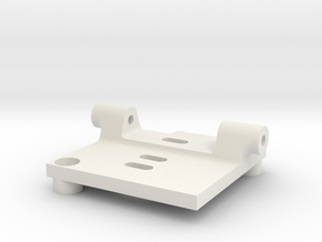 HS1177 Back Plate Mount in White Natural Versatile Plastic