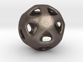 Conway Polyhedron {lseehI} in Polished Bronzed Silver Steel