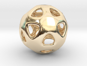 Conway Polyhedron {lseehI} in 14k Gold Plated Brass
