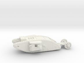 1/160 Mk.I Female tank in White Strong & Flexible