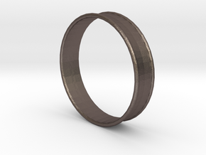 2 Inch (51mm) Double Flare Ear Tunnel (single) in Polished Bronzed Silver Steel