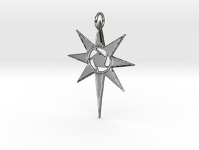 Thareon Pendant Beta in Fine Detail Polished Silver