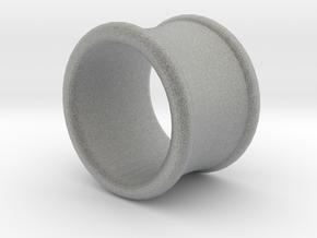 19/32 Inch (15mm) Double Flare Ear Tunnel (single) in Metallic Plastic