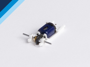 Small Can Olifer motor mount - Slot.it compatible in White Strong & Flexible