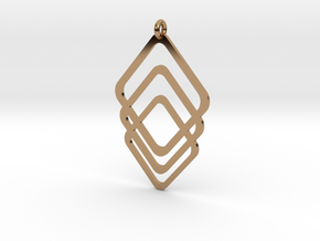 Rombs Pendant in Polished Brass