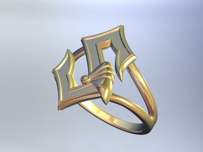 Sabaton Ring (female) in Polished Gold Steel