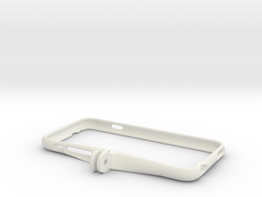 iPhone 6 Holder for Gopro mounts in White Natural Versatile Plastic