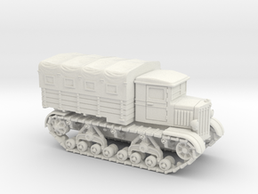 Voroshilovetz Tractor (15mm, with Canopy) in White Strong & Flexible