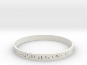 Family Bangle - heritage piece in White Strong & Flexible