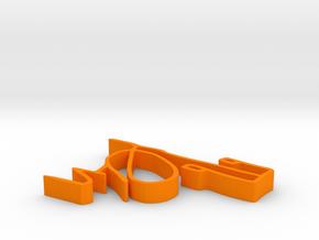 001041 : Signature of al-Quran verses numbers in Orange Processed Versatile Plastic