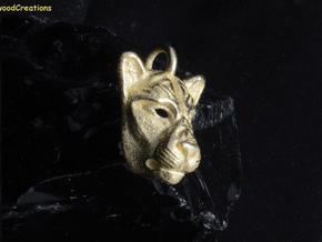 Lioness Pendant Small in Polished Bronzed Silver Steel