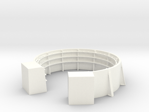 1/72 40mm Gun Tub Shield with Shell Bracket in White Processed Versatile Plastic