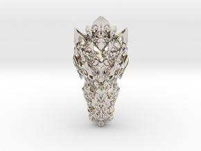 Dragon Ring - Size 10  in Rhodium Plated Brass