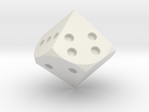 Tetragonal trapezohedron D8 in White Natural Versatile Plastic