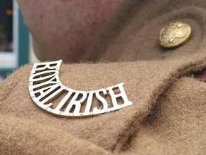 Reproduction Royal Irish Regiment Shoulder Titles in Natural Brass